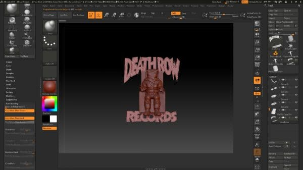 پلاک معروف دثرو ریکورد  DeathRow Records طرح اصلی